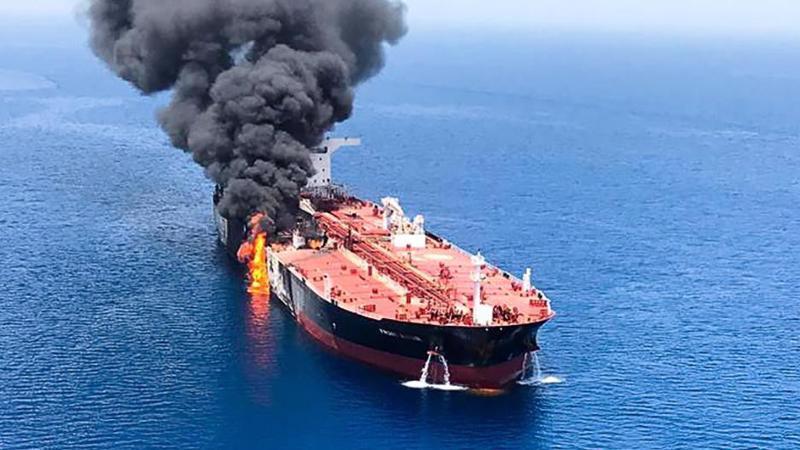 Một trong hai tàu chở dầu bị tấn công ở Vịnh Oman ngày 13/6.