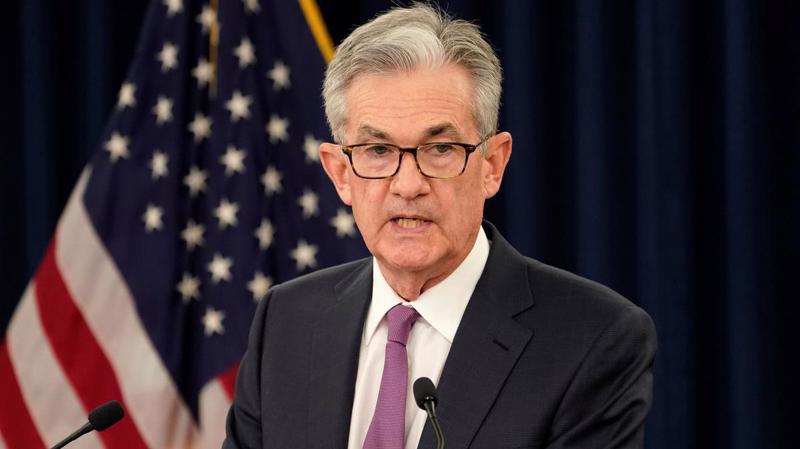 Chủ tịch FED Jerome Powell trong cuộc họp báo ngày 19/6 - Ảnh: Reuters.