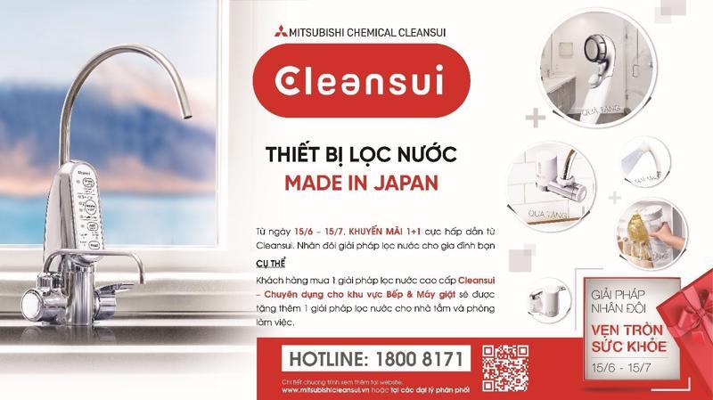 Yên tâm tận hưởng nguồn nước sạch, an toàn với các giải pháp sống khỏe từ Mitsubishi Cleansui.