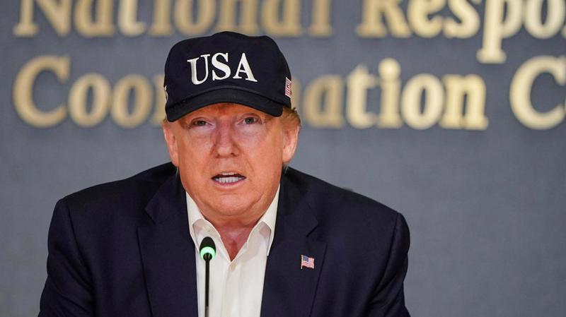 Tổng thống Mỹ Donald Trump xuất hiện trong một sự kiện hôm 1/9 - Ảnh: Reuters.