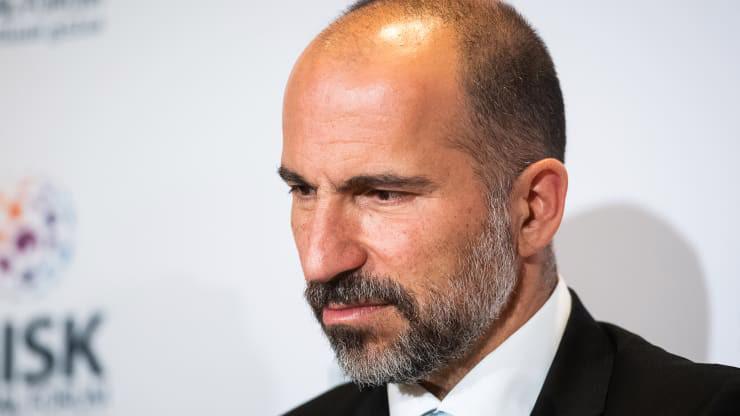 CEO Dara Khosrowshahi của Uber - Ảnh: Bloomberg/CNBC.