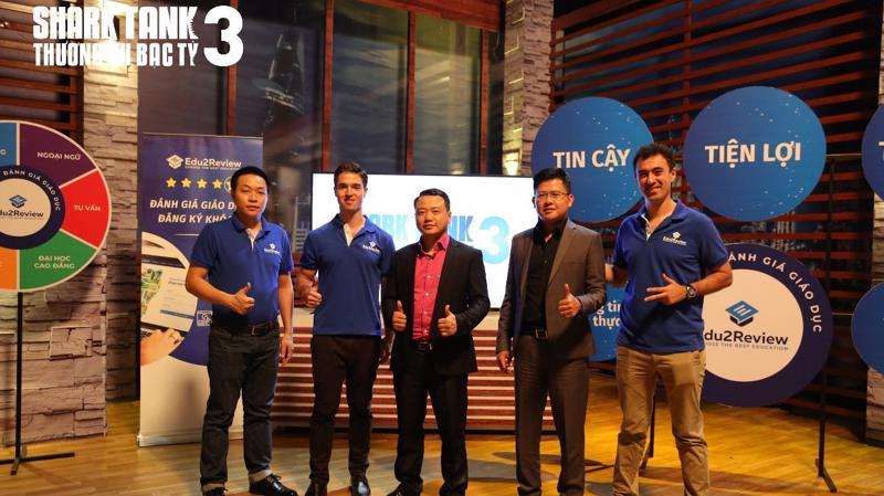 Muốn hỗ trợ startup đi tiên phong trong lĩnh vực giáo dục công nghệ, Shark Dzung Nguyễn và Shark Bình bắt tay đầu tư vào Edu2review.