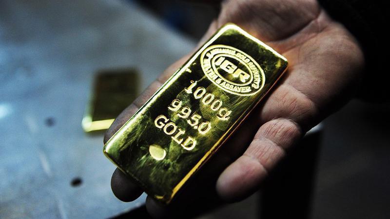 Giá vàng thế giới đang ở gần mức thấp nhất 4 tuần - Ảnh: Getty/MarketWatch.