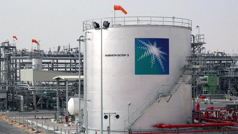 Một cơ sở dầu lửa của Saudi Aramco, công ty dầu khí quốc doanh của Saudi Arabia.