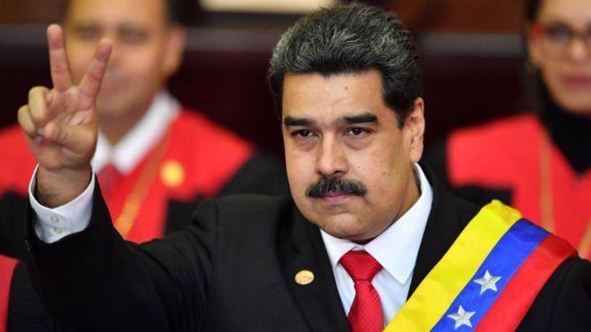 Tổng thống Nicolas Maduro của Venezuela.