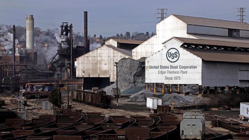 Một nhà máy của US Steel ở Mỹ - Ảnh: AP/Forbes.