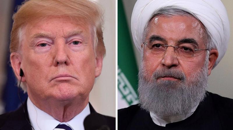 Tổng thống Mỹ Donald Trump (trái) và Tổng thống Iran Hassan Rouhani - Ảnh: ABC News.