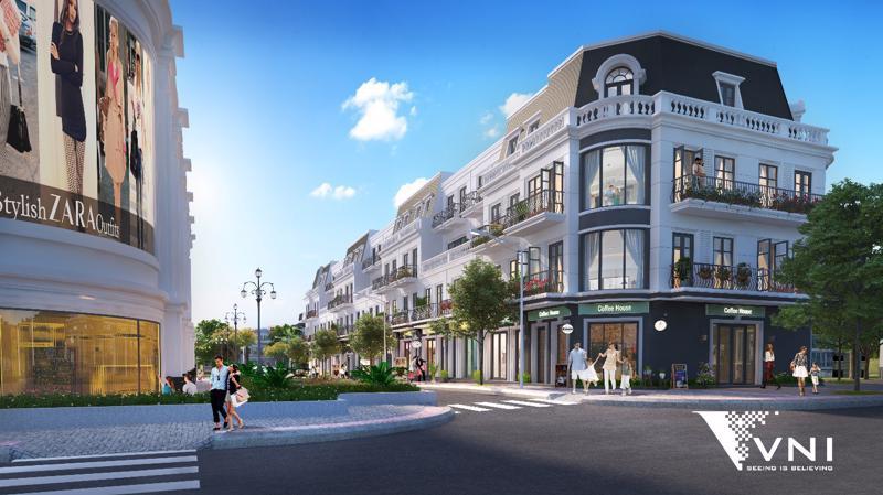 Mỗi căn Vincom Shophouse đều có từ 2 - 3 mặt tiền, gia tăng giá trị thương mại cho dự án.