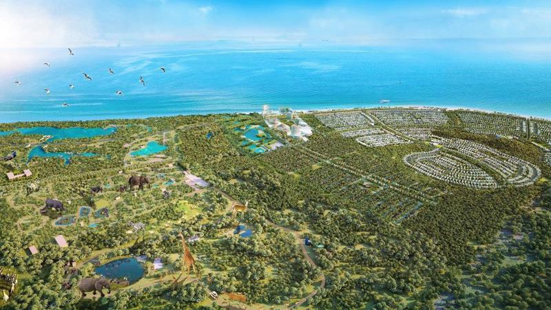 Phối cảnh quy hoạch tổng thể khu Safari tại Bình Châu - Xuyên Mộc. (Ảnh: Novaland).