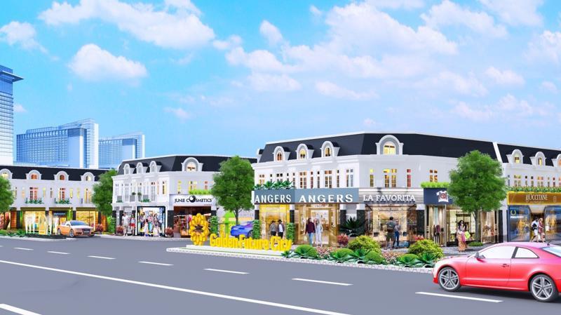 Phối cảnh mặt tiền khu đô thị Golden Future City.