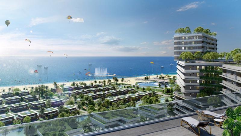Tọa lạc mặt tiền tuyến đường biển quốc gia (719B) và sở hữu 1,7km bờ biển riêng biệt, Thanh Long Bay có quy mô 90ha với 12 phân khu lớn, mang phong cách kiến trúc độc đáo và khác biệt.