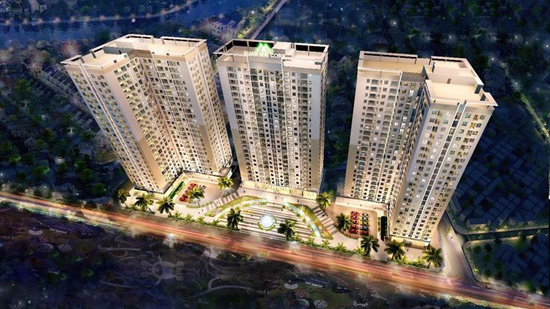 Dự án Xuân Mai Tower Thanh Hóa cất nóc tháng 6/2019, bảo đảm cam kết bàn giao nhà đúng hạn cho khách hàng.