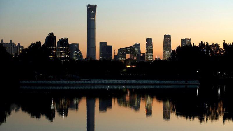Quận tài chính trung tâm ở Bắc Kinh, Trung Quốc nhìn từ xa - Ảnh: Reuters.