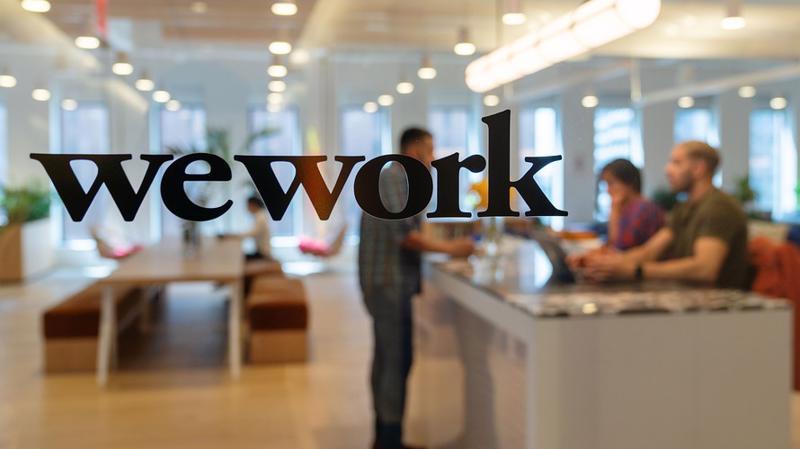 Một văn phòng WeWork ở New York - Ảnh: Bloomberg.