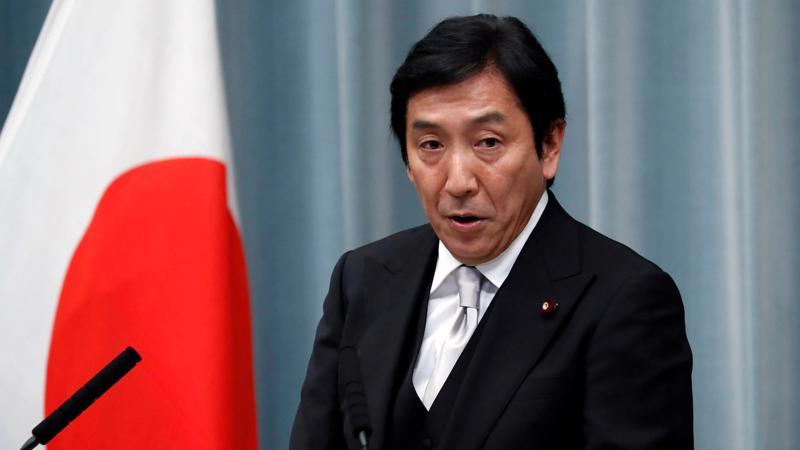 Bộ trưởng Bộ Thương mại vừa từ chức của Nhật Bản, ông Isshu Sugawara - Ảnh: Reuters/Nikkei.