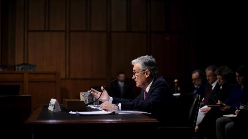Chủ tịch FED Jerome Powell trong phiên điều trần ngày 13/11 - Ảnh: Reuters.