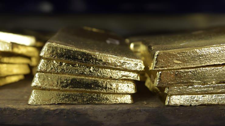 Giá vàng thế giới gần đây không rõ xu hướng - Ảnh: Bloomberg/CNBC.