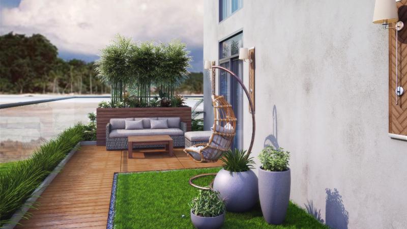 Dự án nghỉ dưỡng hiếm hoi tại Vũng Tàu sở hữu căn hộ sân vườn trên không - một ý tưởng thực sự khác biệt mà Chủ đầu tư đã táo bạo đưa vào Oyster GanhHao.