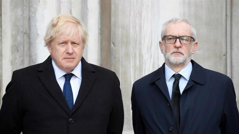 Thủ tướng Anh Boris Johnson và thủ lĩnh Công Đảng Jeremy Corbyn - Ảnh: Reuters.