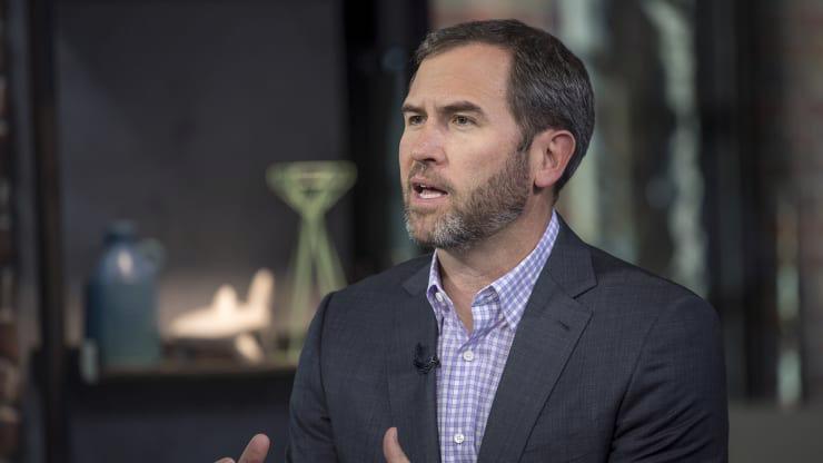 Ông Brad Garlinghouse, Tổng giám đốc (CEO) của Ripple Labs - Ảnh: Bloomberg/CNBC.