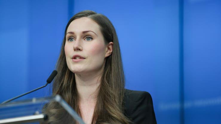 Thủ tướng Phần Lan Sanna Marin - Ảnh: Nur/CNBC.