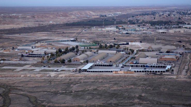 Căn cứ Al-Asad của Mỹ ở Iraq hôm 29/12/2019 - Ảnh: AP/CNBC.