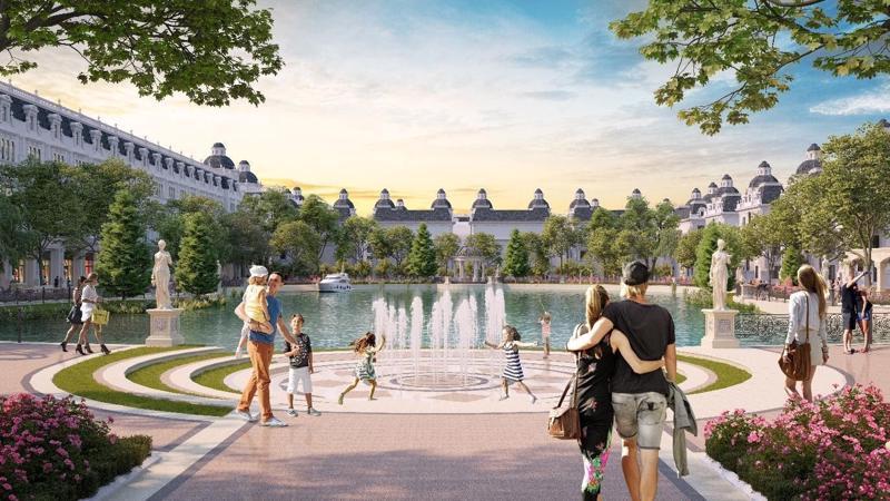 Phối cảnh Công viên hồ Mắt Rồng trong lòng dự án Danko City Thái Nguyên.