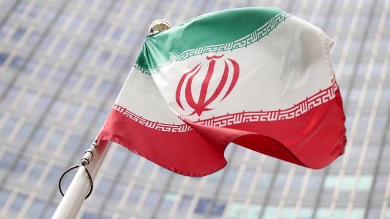Cờ Iran ở trụ sở Cơ quan Năng lượng nguyên tử Quốc tế (IAEA) ở Vienna, Áo, hôm 10/7/2019 - Ảnh: Reuters.