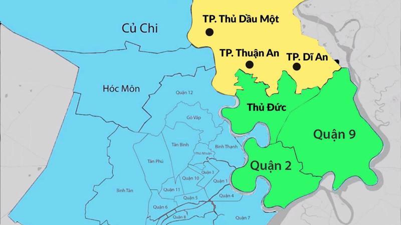 """Thuận An và Dĩ An có nhiều lợi thế để trở thành đô thị vệ tinh của """"thành phố Thủ Đức""""."""