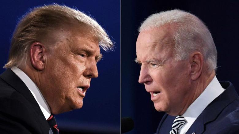 Hai ứng viên Tổng thống Mỹ: ông Donald Trump (trái) và ông Joe Biden - Ảnh: Reuters.