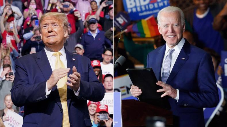 Hai ứng cử viên tổng thống Mỹ: ông Donald Trump (trái) và ông Joe Biden - Ảnh: Reuters.