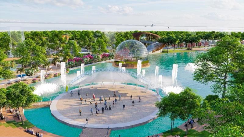 Công viên di sản nằm trong lòng dự án Sunshine Heritage tại Hà Nội.