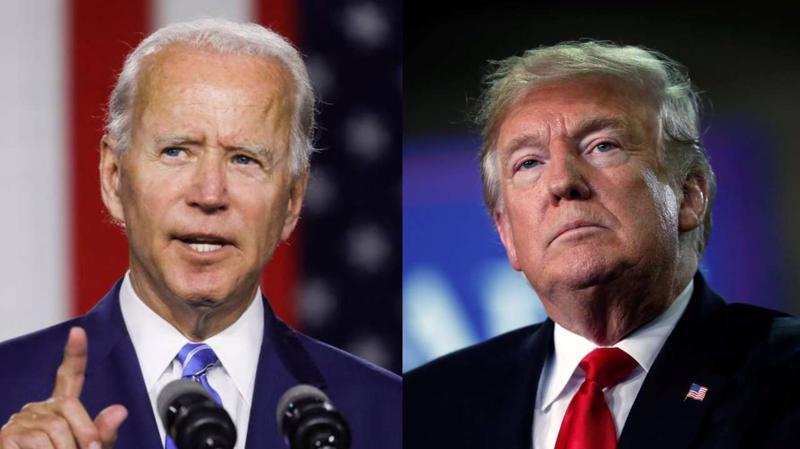 Hai ứng viên tổng thống Mỹ 2020: ông Joe Biden (trái) và ông Donald Trump - Ảnh: Reuters.