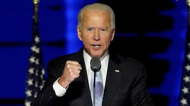 Ông Biden phát biểu mừng chiến thắng ở Wilmington, Delaware hôm 7/11 - Ảnh: Reuters.