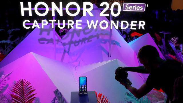 Tại lễ giới thiệu dòng smartphone Honor 20 Series ở London, Anh, tháng 5/2019 - Ảnh: Reuters.