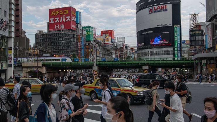 Đường phố ở Tokyo, Nhật Bản, hôm 17/8/2020 - Ảnh: Getty/CNBC.