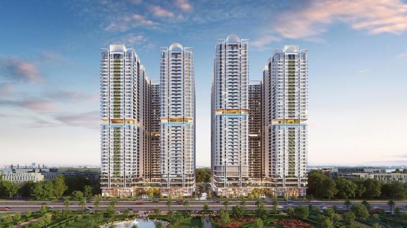 stral City nằm trên mặt tiền quốc lộ 13 (Thuận An), có quy mô 8 toà tháp 40 tầng cao nhất Bình Dương.