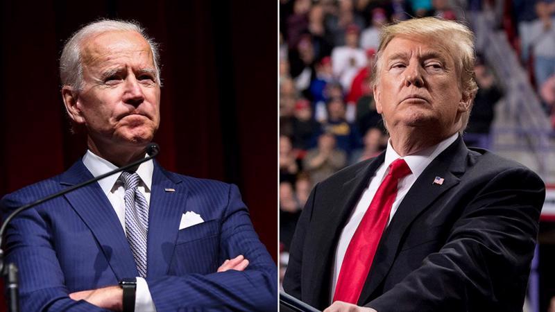 Hai ứng viên tổng thống Mỹ 2020, ông Joe Biden (trái) và ông Donald Trump - Ảnh: ABC.