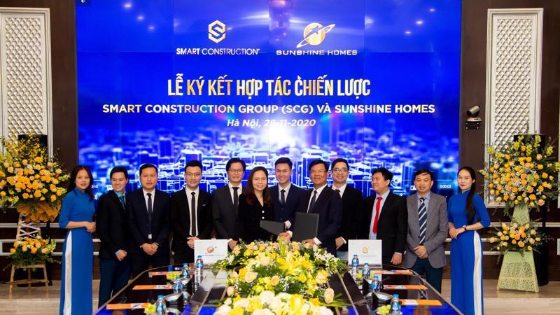 Lãnh đạo Sunshine Homes và SCG ký kết biên bản hợp tác chiến lược.