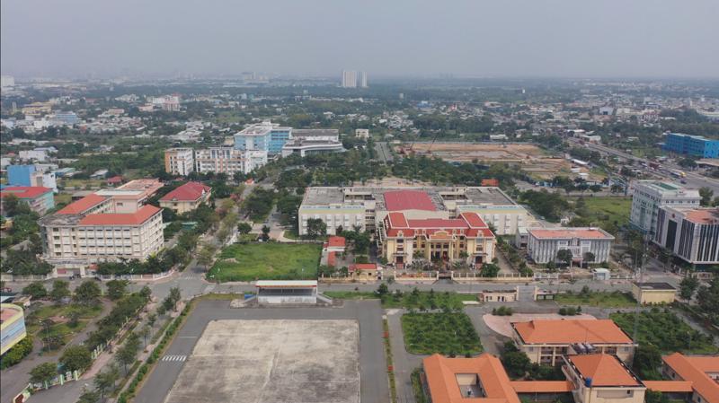 Quy hoạch trung tâm hành chính Bình Chánh (Tân Túc) với đầy đủ tiện ích công.