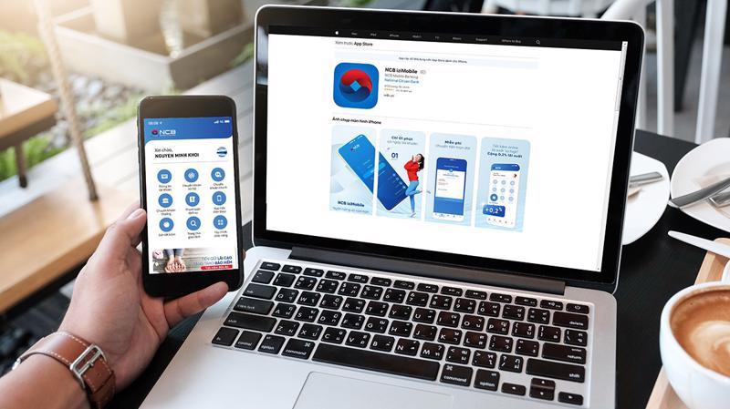 Tại NCB, 95% các giao dịch được thực hiện qua các kênh trực tuyến.