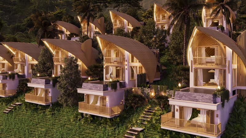 Các căn biệt thự nghỉ dưỡng của Parahills Resort Hòa Bình mang kiến trúc độc đáo chưa từng có.