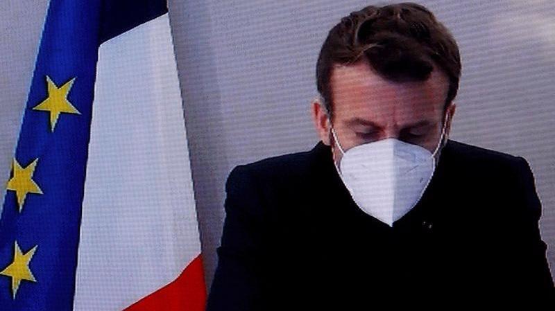 Tổng thống Pháp Emmanuel Macron phát biểu qua video kết nối với một hội nghị về chính sách đối ngoại của Pháp ngày 17/12 - Ảnh: Reuters.