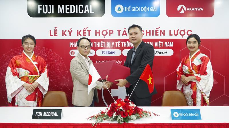 Lễ ký kết hợp tác chiến lược giữa Thế giới Điện Giải và Fuji Medical.