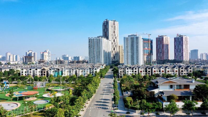 Một góc không gian tại khu đô thị Dương Nội.