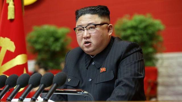 Nhà lãnh đạo Kim Jong Un tại phiên khai mạc Đại hội Đảng Lao động Triều Tiên - Ảnh: KCNA/Reuters.