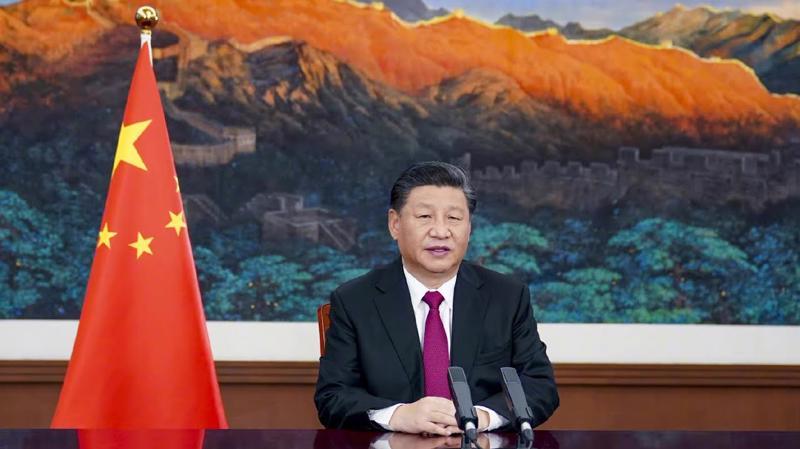 Chủ tịch Trung Quốc Tập Cận Bình phát biểu tại Davos Agenda ngày 25/1 - Ảnh: Bloomberg.
