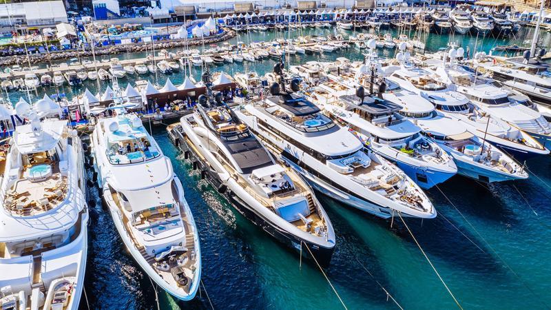 Một triển lãm du thuyền ở Monaco.