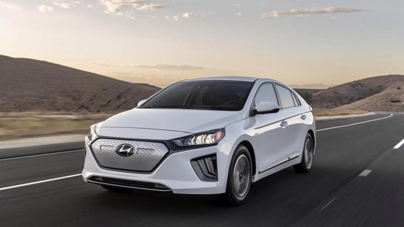 Một mẫu ô tô điện Ioniq EV của Hyundai.