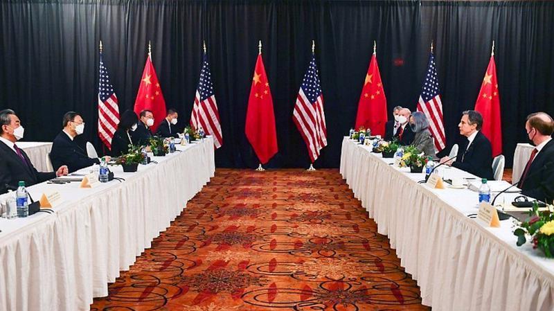 Đàm phán cấp cao Mỹ-Trung ở Alaska - Ảnh: BBC.